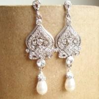 Rhinestone Chandelier Earrings Wedding | Home Design Ideas