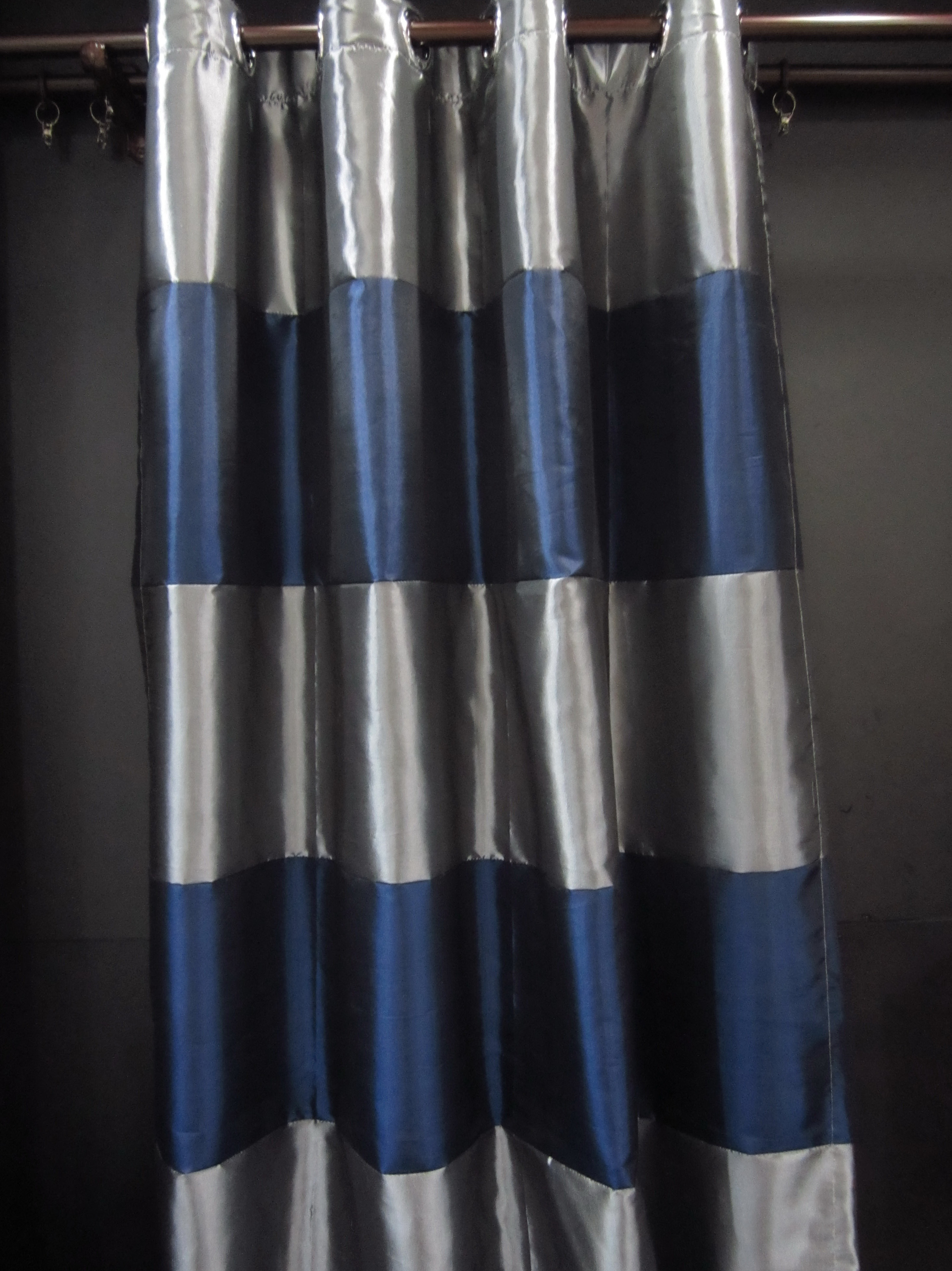 Blue And Gray Striped Curtains  Home Design Ideas