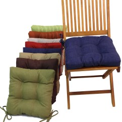 Dining Room Chair Pillows Travel High Cushions With Ties Home Design Ideas
