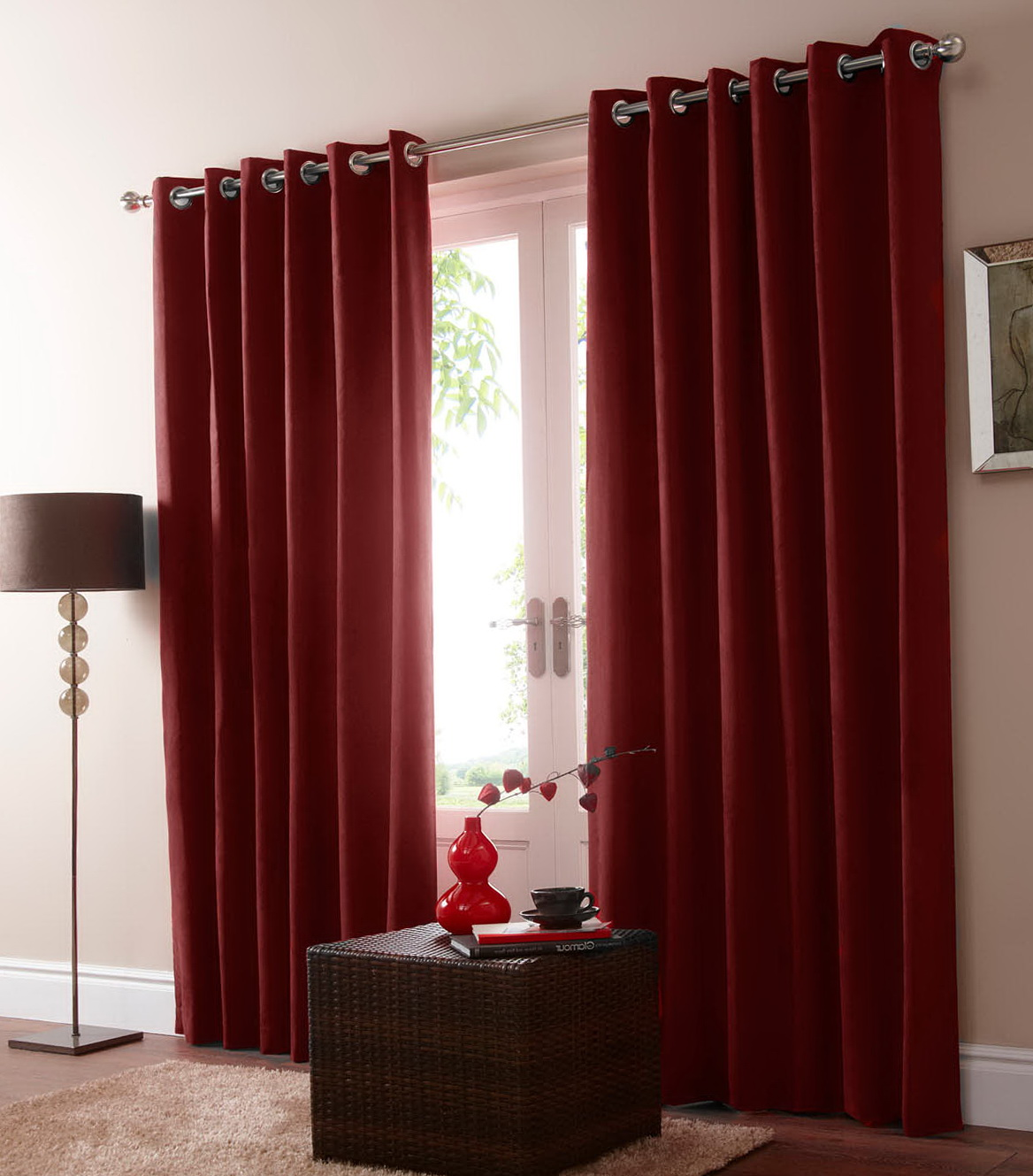 Red Blackout Curtains Uk Home Design Ideas