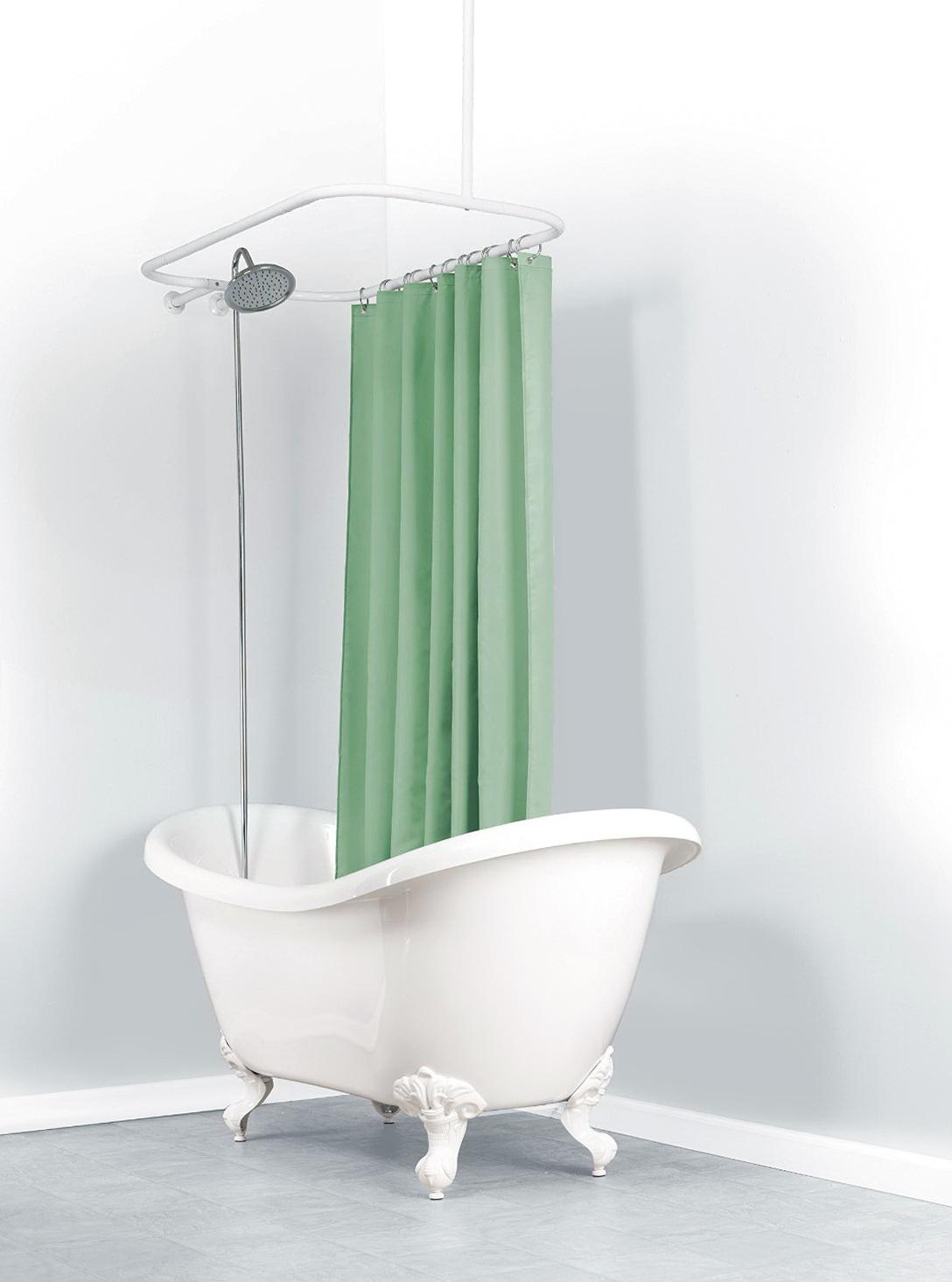 Shower Curtain Rod For Clawfoot Tub Canada Home Design Ideas