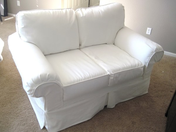 Slipcover for Sofa with Attached Back Cushions