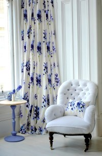 White And Blue Floral Curtains | Home Design Ideas