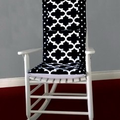 Black Chair Pads Modern Dining Chairs Canada Rocking Cushions Home Design Ideas