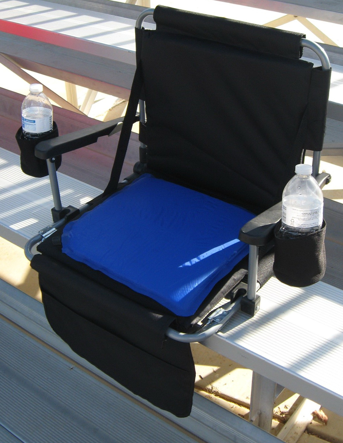 stadium chairs for bleachers with arms kids play heated seat cushion home design ideas