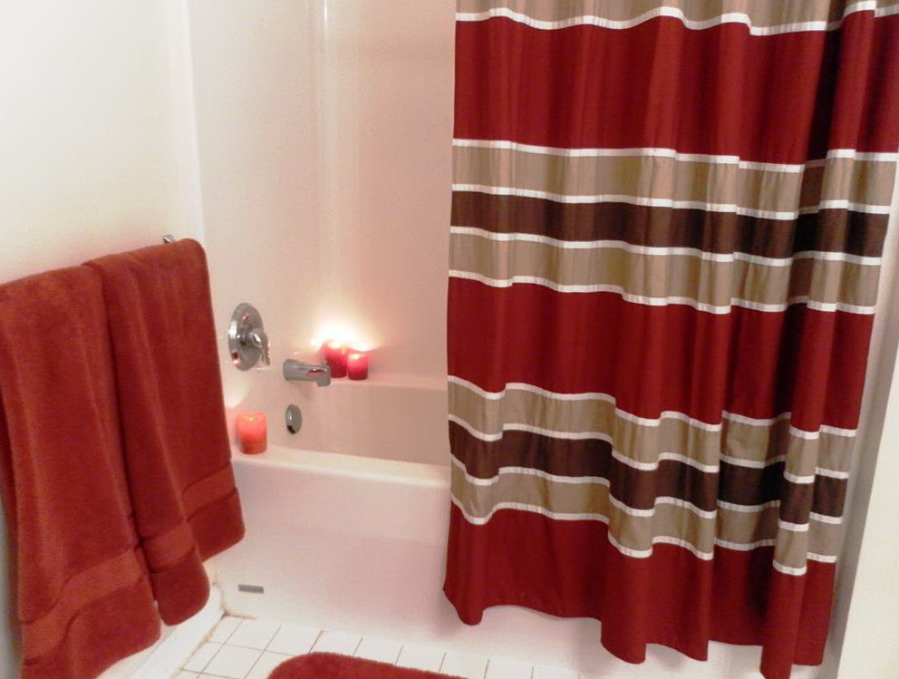Red And Grey Checked Curtains Home Design Ideas