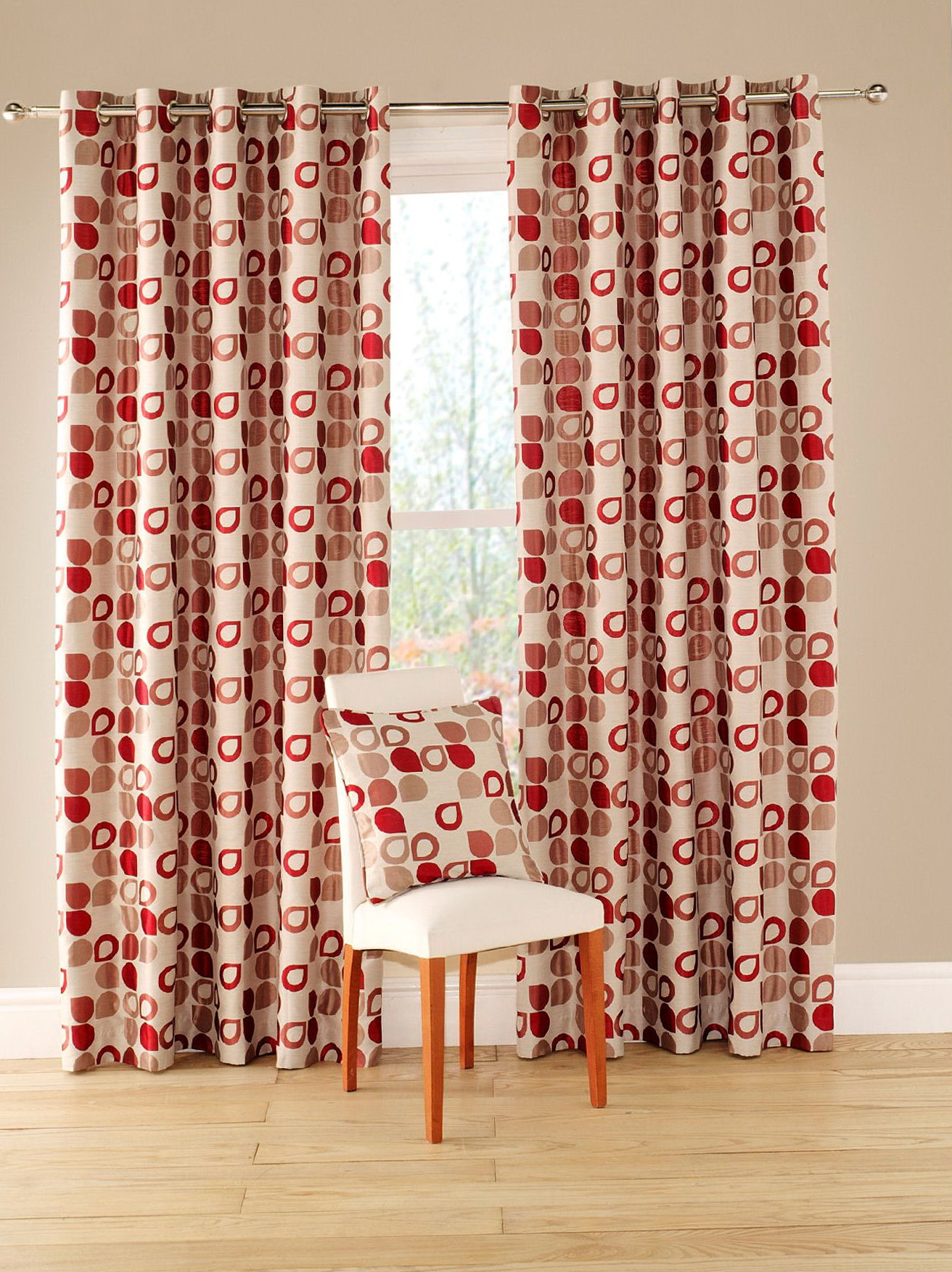 chair covers leather folding hs code red geometric pattern curtains | home design ideas
