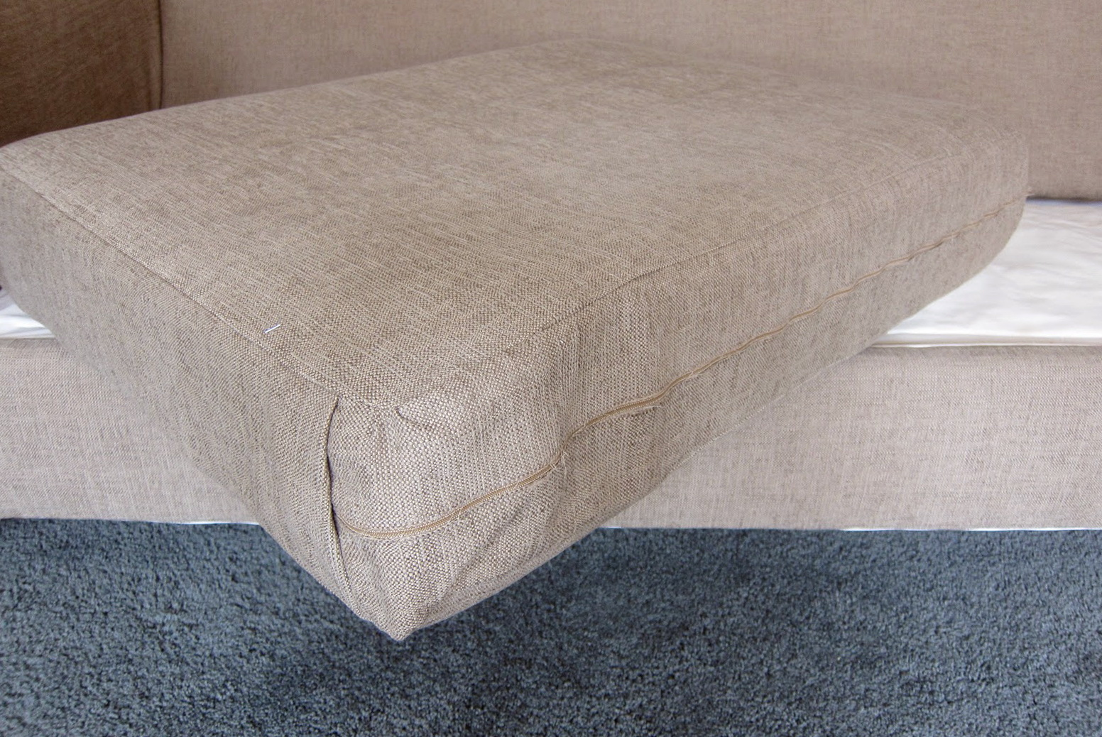 how to recover a sofa without sewing sectional brands reupholster couch cushions home design ideas