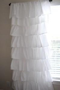 White Ruffle Curtain Panels 96 | Home Design Ideas