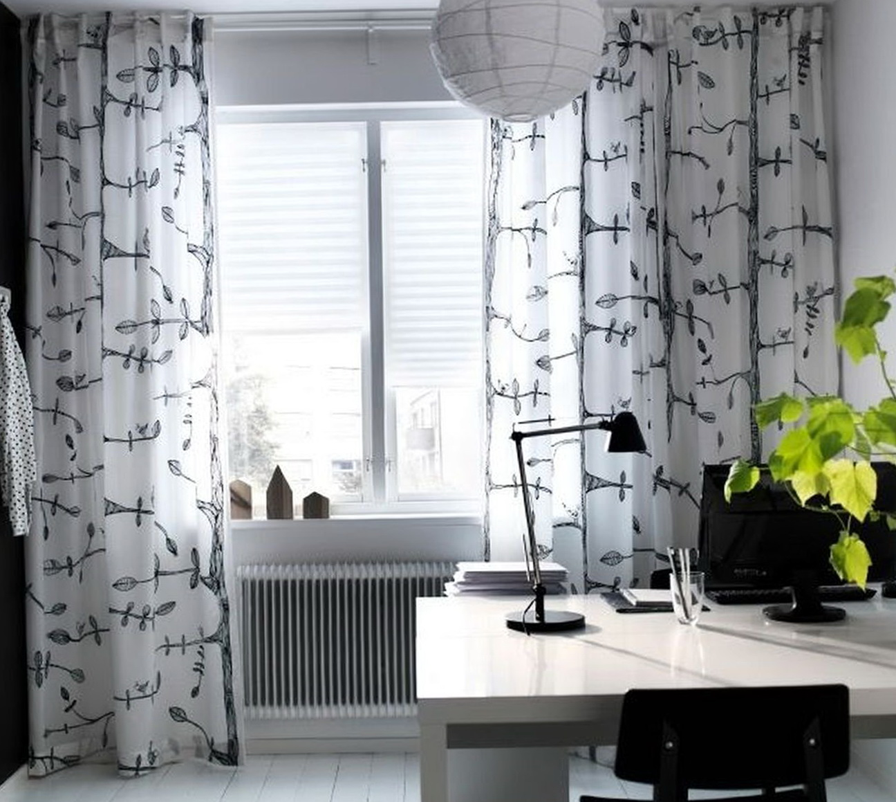 Ikea Curtains Black And White Home Design Ideas