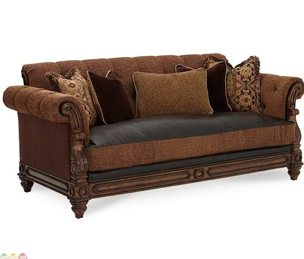 material and leather sofa interior design blue with fabric cushions