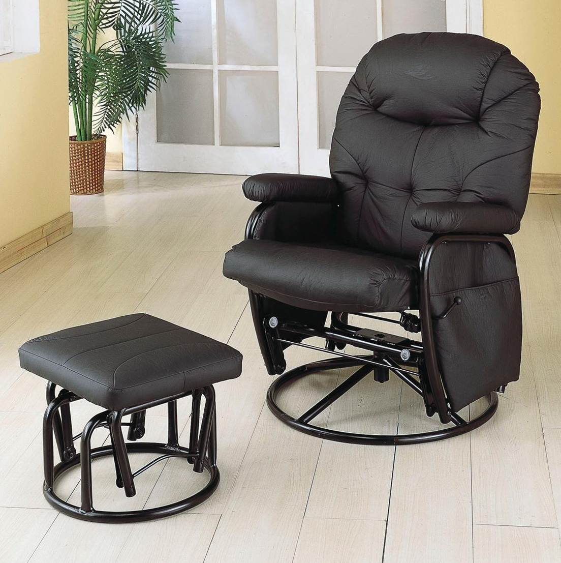glider chair and ottoman replacement cushions dining room chairs cherry wood for set home