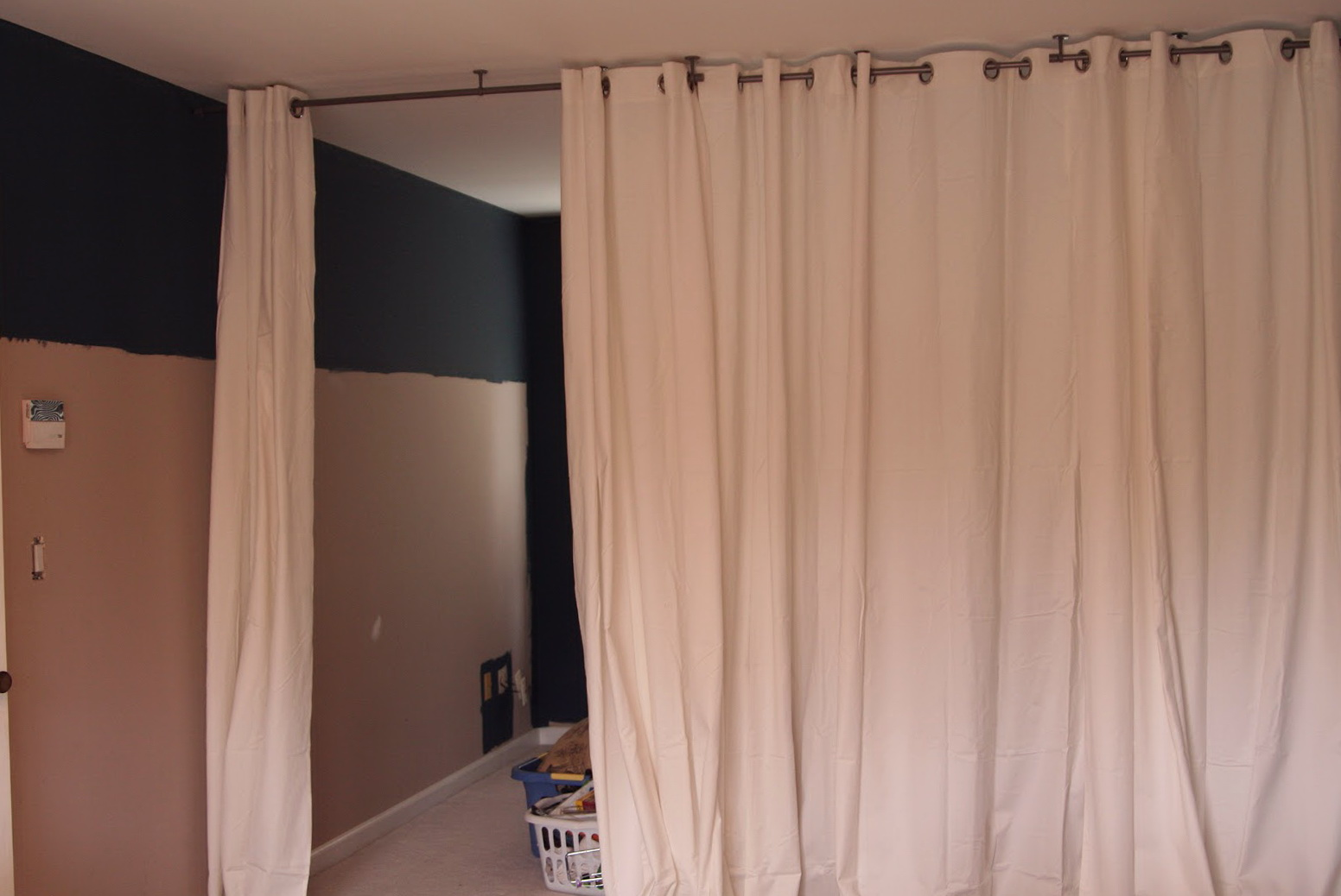 Room Divider Curtain Track Diy  Home Design Ideas
