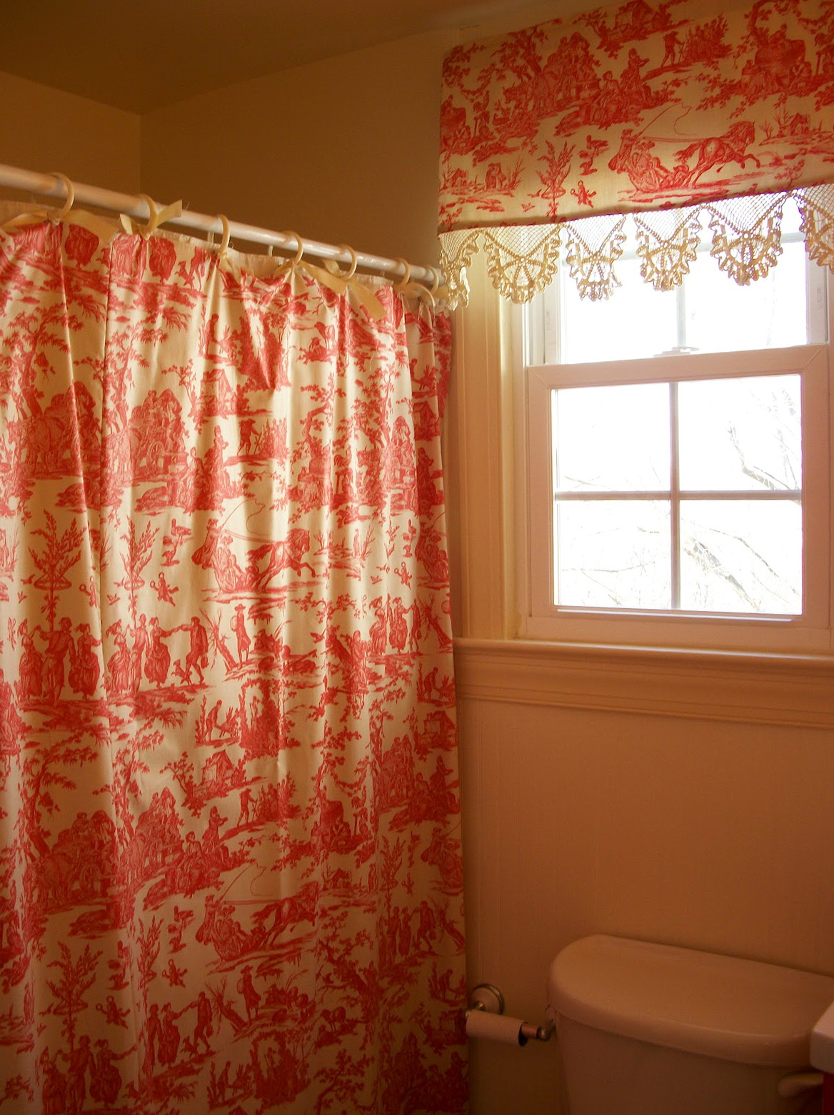 Shower Curtains With Matching Window Curtains And Valances  Home Design Ideas