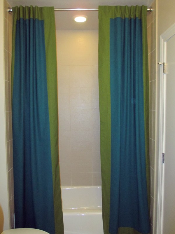 Split Shower Curtains Home Design Ideas