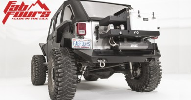Fab Fours Slant Back Tire Carrier and YETI Mount