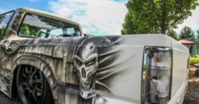 Custom paint jobs are a hallmark of mini trucks.