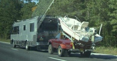 Towing behind an RV