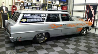 This 1967 Chevy station wagon was converted to a 2-door with seamless welding.