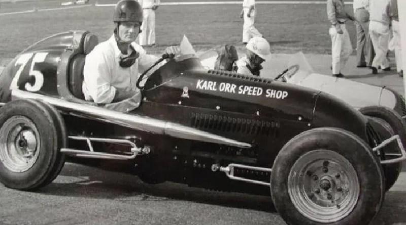 Vintage midget car racing
