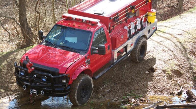 Known as a beast, the Ford Super Duty is a brush truck of choice for emergency responders.