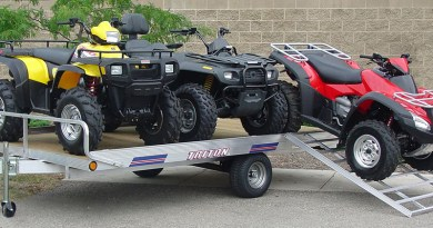 From utility flat bed and toy haulers to full-fledged motorhomes, there's no shortage of ways to haul a powersports unit.