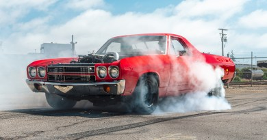 Ever come face-to-face with a diesel swapped El Camino?