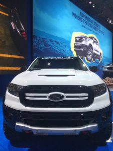 Front facia of the 2019 Ford Ranger build by Air Design USA at SEMA.