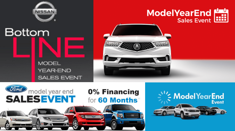 Model year end sales events can often be the best time to buy a car.