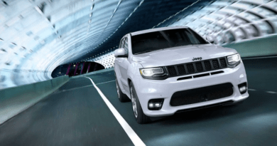 With a 475-hp V8, performance-tuning galore, and a price tag $20,000 less than its Trackhawk brother, the 2019 Jeep Grand Cherokee SRT is a track-ready beast.