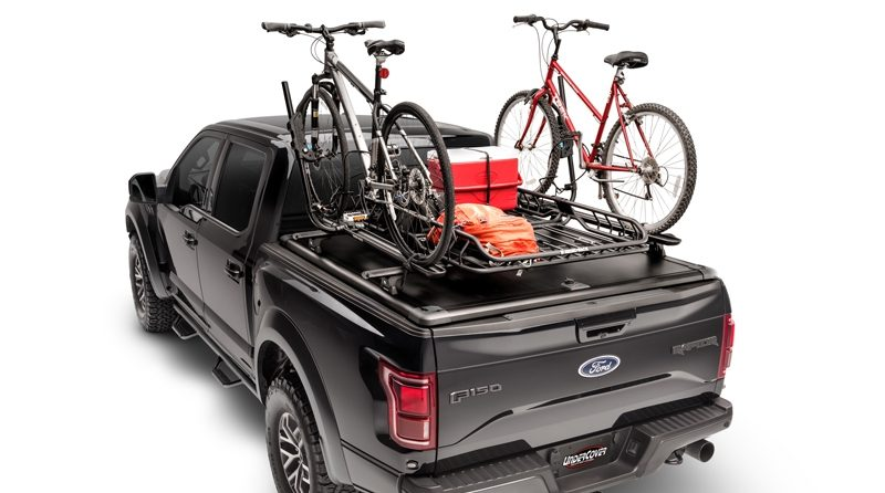 The Ridgelander Biking Accessory Kit provides unique tonneau-top bike mounting.
