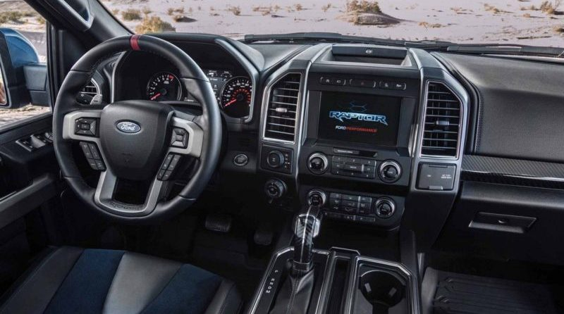 The interior of the 2019 Ford Raptor is still everything we expect from the name.