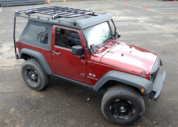 Warrior Products new Jeep MOD Rack offers unparalleled strength and carrying configurations.