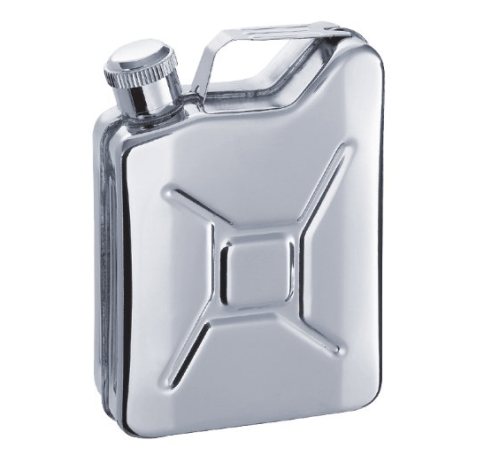 This Jerry Can hip flask makes our short list of stocking stuffers for car lovers.