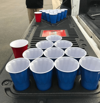 PendaForm tailgate pong is easy to set up and fun to play.