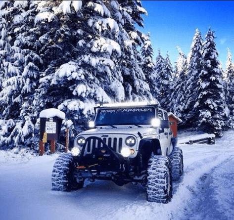 When winter wheeling, you'll be relying on your lights a lot more.