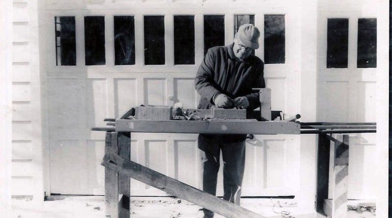 Vern Westberg, founder of AutoMeter, at work circa 1957.