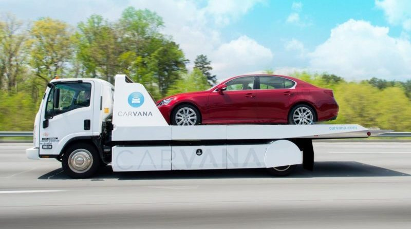 Creative car-buying startup Carvana reports impressive growth and skyrocketing stock value, indicating a possible new direction for vehicle shopping.