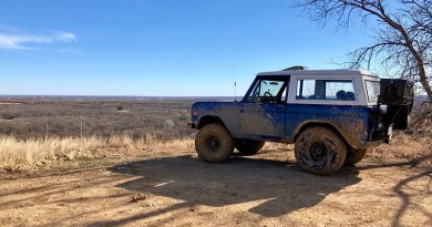 "A 1977 Ford Bronco, previously owned by his father-in-law, Tony Eller, is the current project vehicle for Ryan Duwe of Fort Worth, Texas. ""There it was, just sitting in an Alabama field. Pecans inside. Rusting. Sitting there neglected,"" says Duwe."