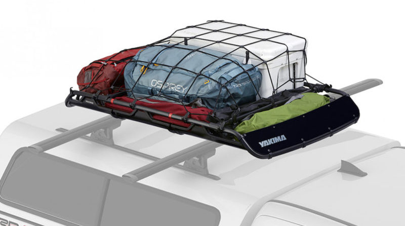 The Yakima OffGrid Cargo Basket comes with two optional extension pieces that increase the carrying capacity by 40%.