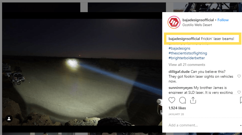 Pioneering both HID and LED illumination, Baja Designs has now turned its sights on laser lighting, recently introducing the world's first laser light bar and farthest-reaching product on the market, the OnX6 Hybrid.