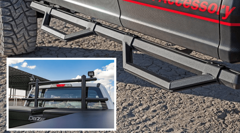 The DeeZee Hex Series of side steps, bed rails, and truck racks is constructed of hexagonal extruded aluminum tubing that features an integrated channel design for convenient adjustability and near-endless accessorizing.
