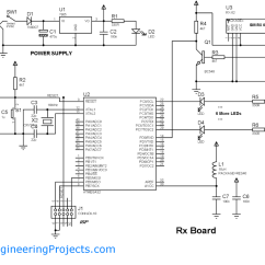 Rf Tx And Rx Circuit Diagram Ford Mondeo Mk3 Fuse Box Wireless Communication Between Microcontrollers Through