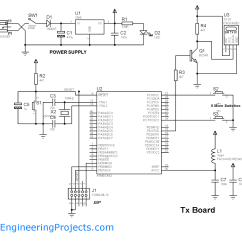 Rf Tx And Rx Circuit Diagram Intermatic Pool Timer Wiring Wireless Communication Between Microcontrollers Through