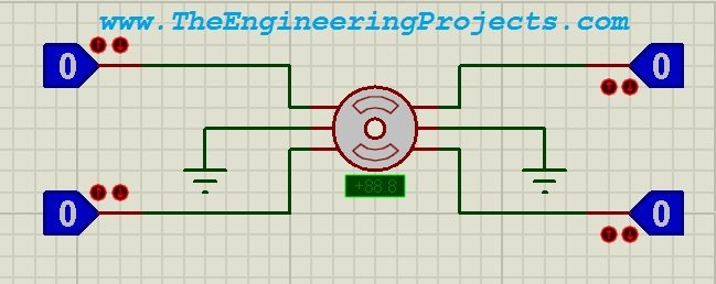 Stepper Motor Drive Circuit in Proteus ISIS, Stepper motor circuit in proteus, complete circuit design in proteus isis