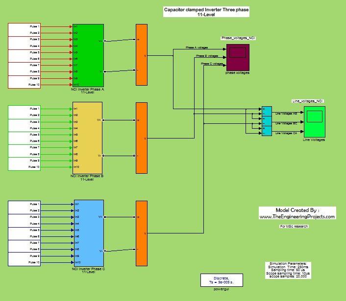 11 level inverter,3phase inverter,capacitor clamped inverter, 3phase capacitor clamped