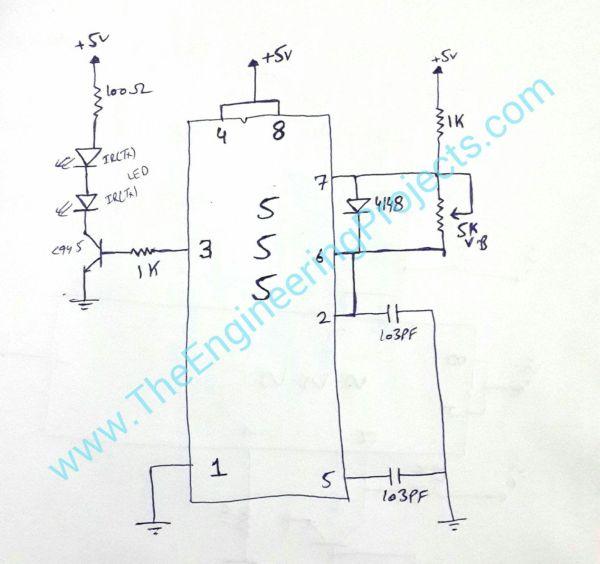 IR sensor design, circuit diagram of ir sensor