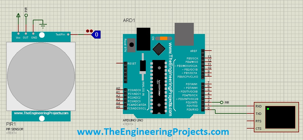 pir sensor wiring diagram how to draw plc library for proteus the engineering projects simulation in