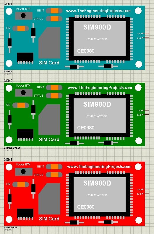 GSM Library for Proteus, GSM simulation proteus, gsm module proteus, sim900D in proteus, sim900D simulation in Proteus