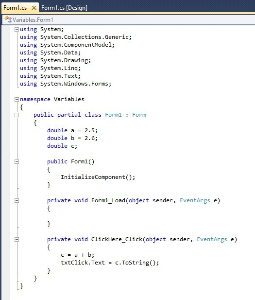 c# double, double c#, c# double variable, C# double to int